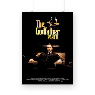 The godfather part2 poster with Al Pacino black background