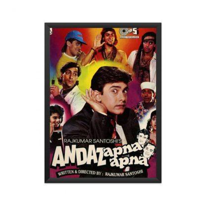 black framed Andaz apna apna poster