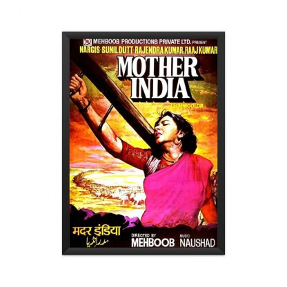 black framed mother india poster