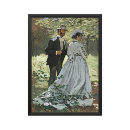 framed Bazille and Camille (1865) by Claude Monet.