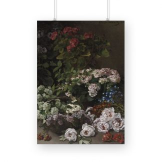 Spring Flowers (1864) by Claude Monet. Original from The Cleveland Museum of Art
