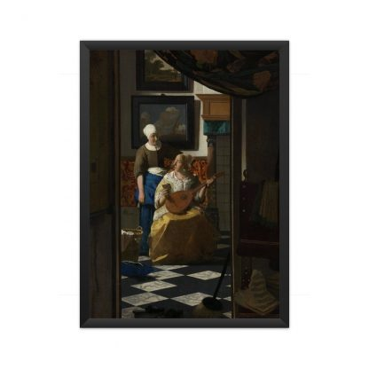framed The Love Letter (ca. 1669 –1670) by Johannes Vermeer