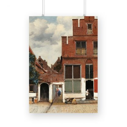 The Little Street (ca. 1658) by Johannes Vermeer. Original from The Rijksmuseum.
