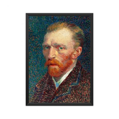 framed Self-Portrait (1887) by Vincent Van Gogh. Original from the Art Institute of Chicago.