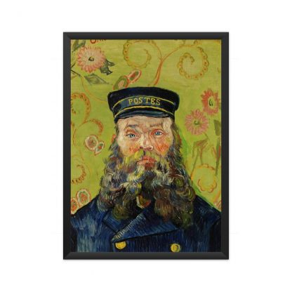 framed The Postman (Joseph Roulin) (1888) by Vincent Van Gogh. Original from the J. Paul Getty Museum.