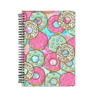 custom notebook Delicious Donuts print