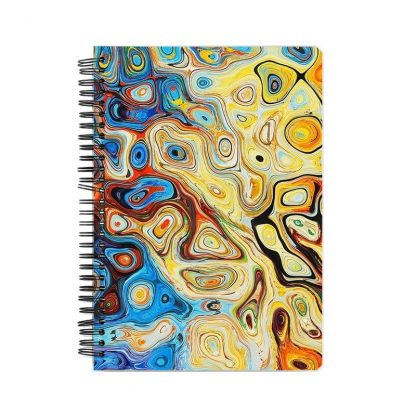 colorful modern abstract notebook