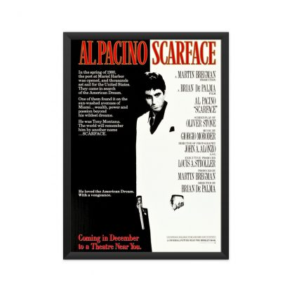 Framed Scarface poster