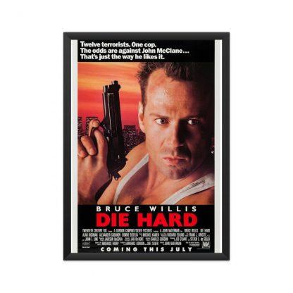 Framed Die Hard movie poster