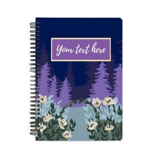 Custom purple notebook