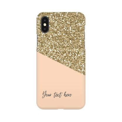 custom glitter yellow mobile cover
