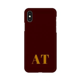 Red phone cover with custom initials