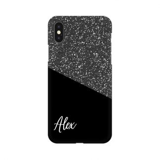 custom glitter black mobile cover