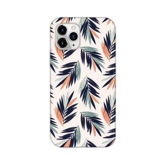 Beach palms mobile/phone cover/case with green and pink leaves
