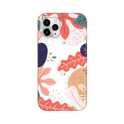 spring joy mobile/phone cover/case with green, blue, yellow and pink leaves