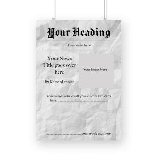 Custom newspaper post